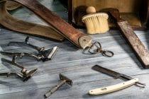 benodigdheden van een traditionele barbier